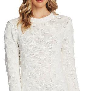 Vince Camuto White Cotton Sweater Small